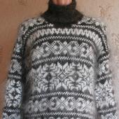 """Пуховый свитер """"Зимние узоры"""""""