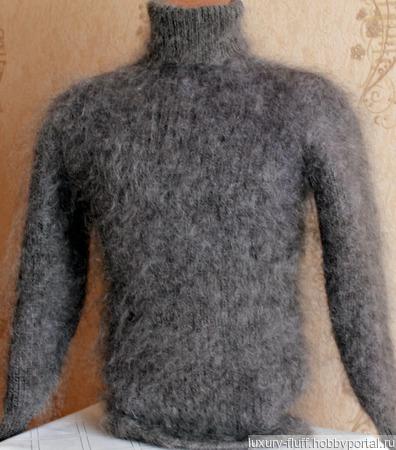 """Пуховый свитер """"Просторы дня"""" ручной работы на заказ"""