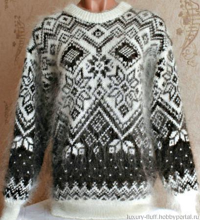 """Пуховый женский свитер """"Вдохновение"""" ручной работы на заказ"""