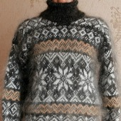 "Пуховый вязаный свитер ""Стимул"""