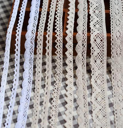 Кружево вязаное.Кайма вязаная. ручной работы на заказ