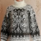 """Пуховый вязаный свитер """"Верона"""""""