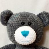 Плюшевый вязаный мишка Тедди