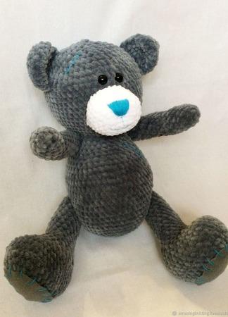 Плюшевый вязаный мишка Тедди ручной работы на заказ