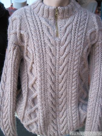 Мужской свитер из альпаки ручной работы на заказ