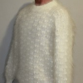 """Пуховый свитер из козьего пуха""""Сопрано""""."""