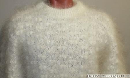 """Пуховый свитер из козьего пуха""""Сопрано"""". ручной работы на заказ"""