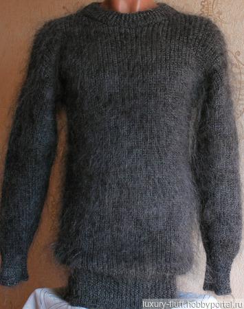 """Пуховый свитер """"Спутник"""" ручной работы на заказ"""