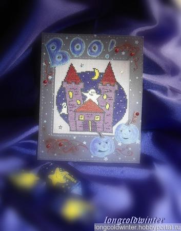 """Открытка """"Дом с привидениями"""" ручной работы на заказ"""