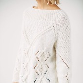 Ажурный вязаный свитер ручной работы в Москве