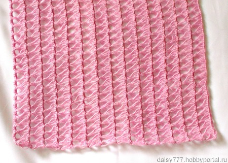 Палантин ручной работы  «Розовая жемчужина» модель 2 ручной работы на заказ