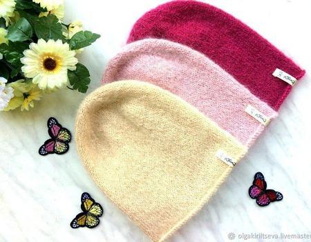 """Шапка бини вязаная """"Royal"""", шапка-бини вязаная, шапка вязаная женская ручной работы на заказ"""