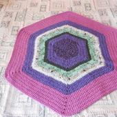 Коврик вязаный, бабушкин коврик, коврик  для дачи, коврик крючком.