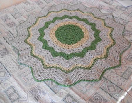Коврик вязаный, бабушкин коврик, коврик  для дачи, коврик крючком. ручной работы на заказ