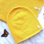 "Вязаный комплект ""Мое солнышко"", детский комплект, шапка и снуд"