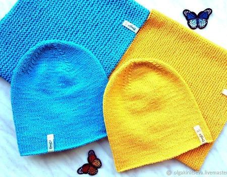 """Вязаный комплект """"Мое солнышко"""", детский комплект, шапка и снуд ручной работы на заказ"""