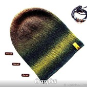 "Шапка вязаная бини "" Nature"", шапочка бини, шапка женская вязаная"