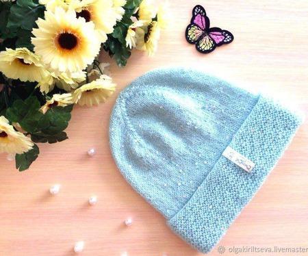 """Шапка вязаная """"Frost"""", вязаная  шапочка, вязаная шапка женская ручной работы на заказ"""