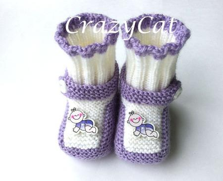 """Пинетки """"Малыш"""", пинетки вязаные, пинетки для новорожденных ручной работы на заказ"""