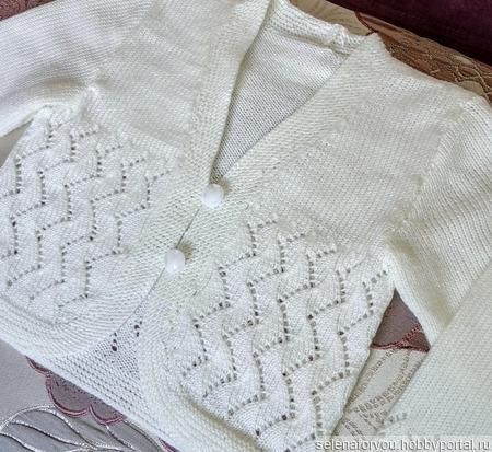 Болеро белое для девочки ручной работы на заказ