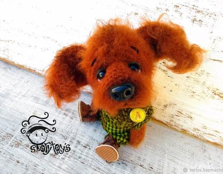 Алекс Ред собачка игрушка ручной работы на заказ