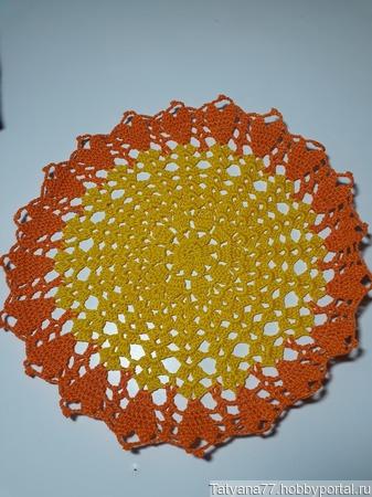 Салфетка Солнышко ручной работы на заказ