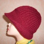 Шляпка женская спицами
