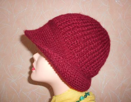 Шляпка женская спицами ручной работы на заказ