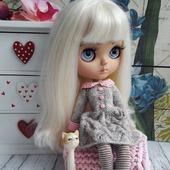 Платье+чулочки для куколки Блайз
