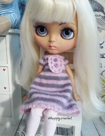 Платье+чулочки для куколки Блайз ручной работы на заказ