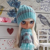 Аутфит Шапка+свитер для куколки Блайз