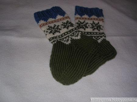 Носки вязанные для ребенка ручной работы на заказ