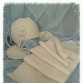 Шапка-ушанка + длинный шарф