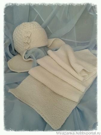 Шапка-ушанка + длинный шарф ручной работы на заказ