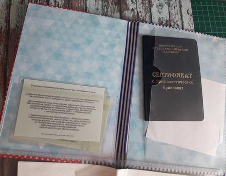Папка для первых документов малыша ручной работы на заказ