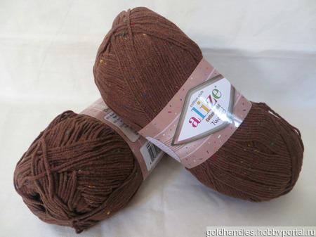 Пряжа Cotton gold tweed от Alize ручной работы на заказ