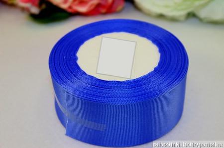 Репсовая лента однотонная 40 мм ручной работы на заказ
