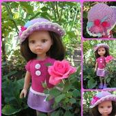 """Одежда  для кукол Паола Рейна. Комплект """"Розы на шляпке"""""""