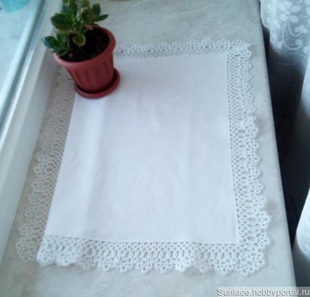 Салфетка с плетёной каймой ручной работы на заказ