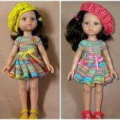 Платье и берет для кукол Паола Рейна