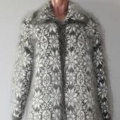 "Пуховое вязаное пальто""Кармелита""."