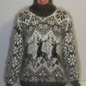 """Пуховый свитер из козьего пуха""""Лапландия""""."""