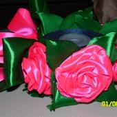 """Резинка на пучок """"Розовые розы"""""""