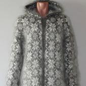 """Пуховое вязаное пальто""""Ярнина""""."""