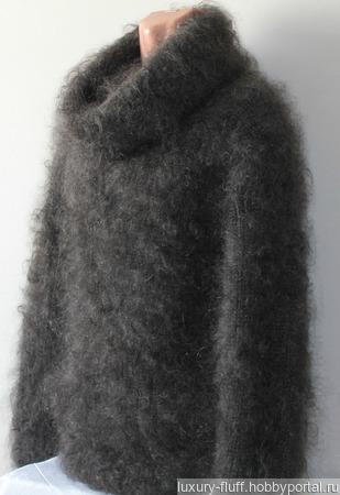 """Пуховый вязаный свитер""""Каролина"""". ручной работы на заказ"""