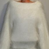 """Пуховый вязаный свитер""""Милена""""."""