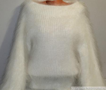 """Пуховый вязаный свитер""""Милена"""". ручной работы на заказ"""