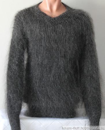 """Пуховый вязаный свитер""""Стиль"""". ручной работы на заказ"""