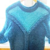 """Удлинённый тёплый пушистый свитер""""Северные мотивы"""""""