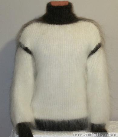 """Пуховый свитер """"Лидер"""" ручной работы на заказ"""